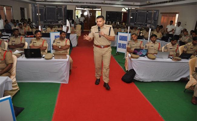Prakasam SP Siddhartha Kaushal Seminar From SI To DSP Level Officers - Sakshi