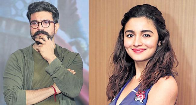 Ram Charan and Alia Bhatt to shake a leg for a romantic song in RRR - Sakshi