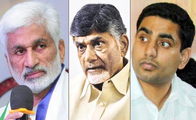 YSRCP MP Vijaya Sai Reddy Satirical Tweets On Chandrababu and Nara lokesh - Sakshi
