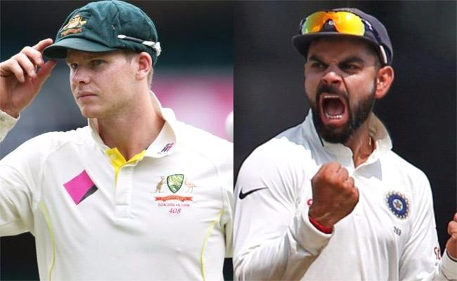 Kohli Cuts Down Smith's Lead  After Pink Ball Test hundred - Sakshi
