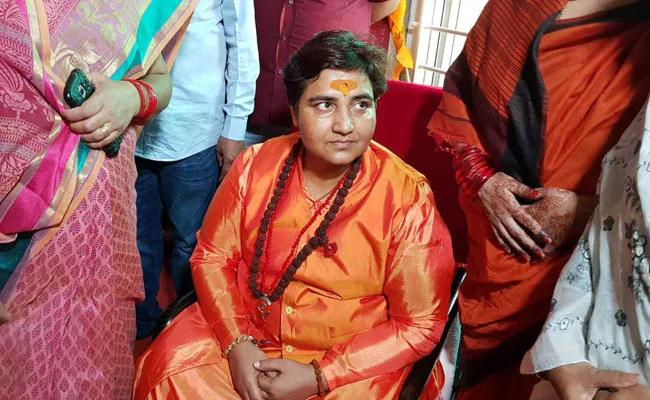 Pragya Thakur Refers Nathuram Godse As Patriot In Lok Sabha - Sakshi