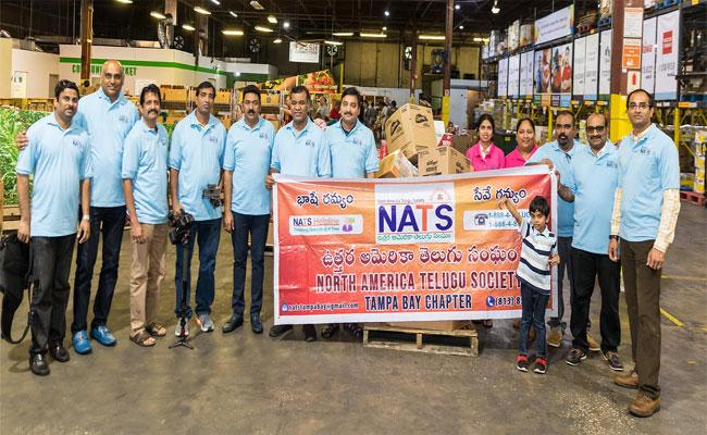 Excellent Response To NATS Food Drive At Tampa - Sakshi