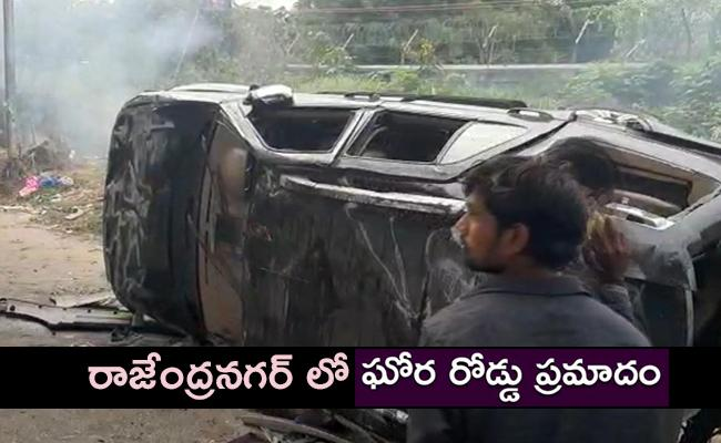 Narayana College students killed in road Accident in Hyderabad - Sakshi