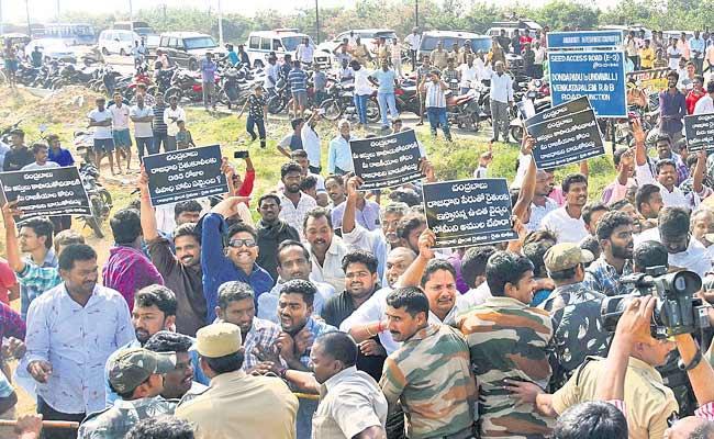 Chandrababu  Naidu Tension In Amravati Tour - Sakshi