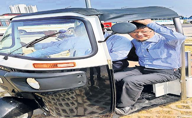 Solar Auto Test Drive At IIT Hyderabad - Sakshi