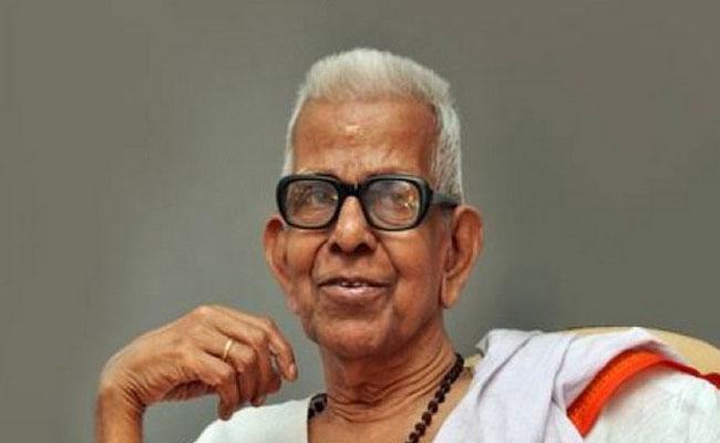 Malayalam Poet Akkitham Wins 2019 Jnanpith Award - Sakshi