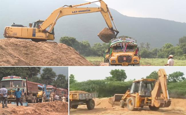 TDP, Janasena Leaders Political Stunts on Sand Scarcity - Sakshi