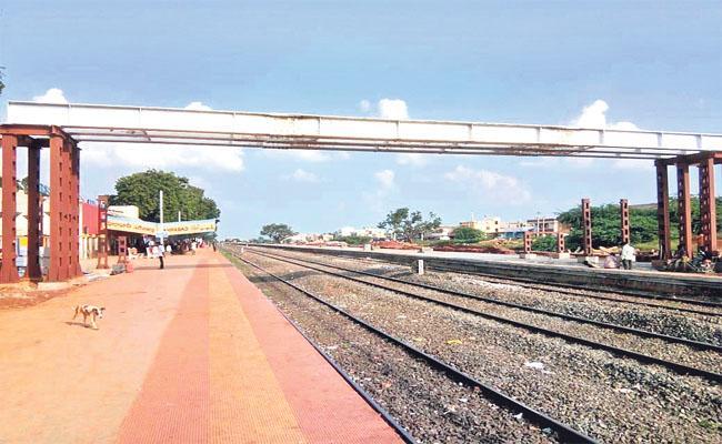 Construction of Second Platform at Zahirabad Railway Station - Sakshi
