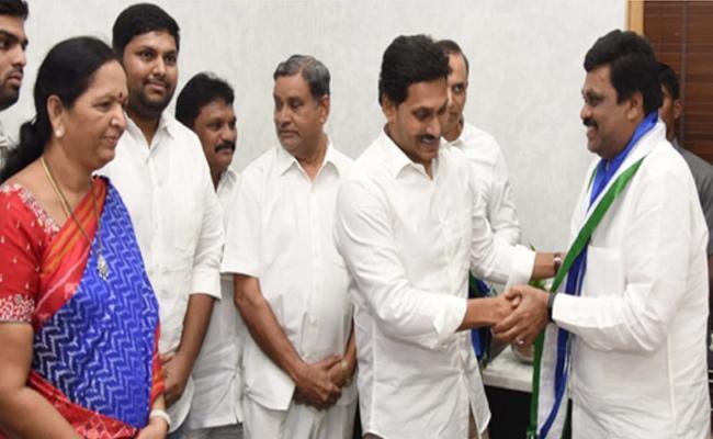 TDP Leader Ayyanna Patrudu Brother Sanyasi Patrudu Joins YSRCP - Sakshi