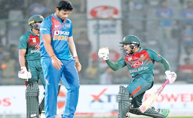 India Vs Bangladesh 1st T20: Bangladesh Won By Seven Wickets - Sakshi