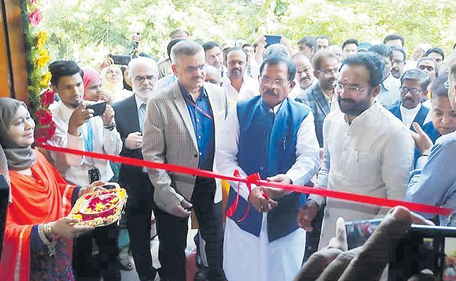Yashoyanak And Kishan Reddy Inaugurating The Unani Building Complex At Hyderabad - Sakshi