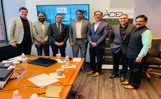 MP Kotagiri Sridhar Meets With American Business Magnates - Sakshi