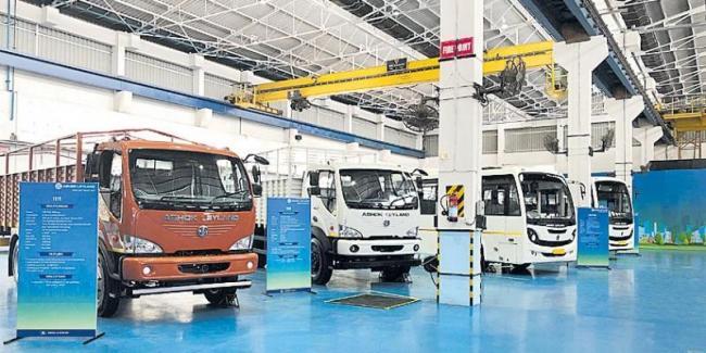 ashok leyland  launch bs6 truck - Sakshi