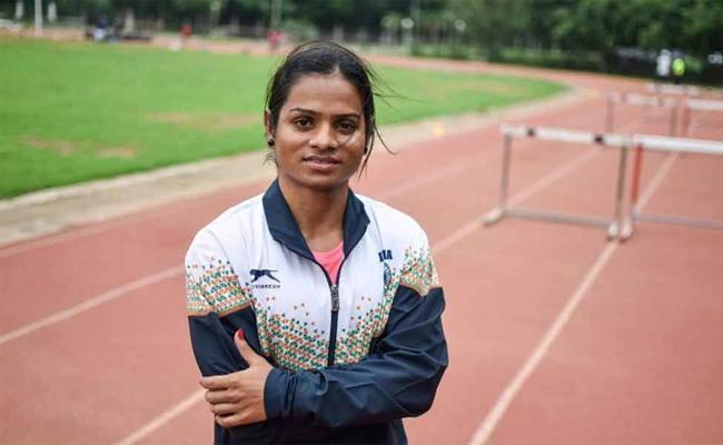 Poor Gachibowli track Hits Dutee's Olympics Training - Sakshi
