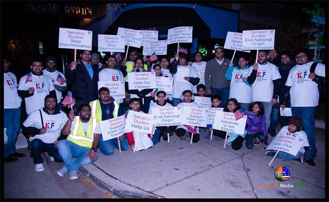 Illinois Immigration Forum Organized Stand For Equality Community Protest In Chicago - Sakshi