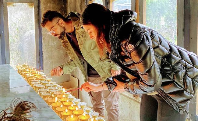 Anushka And Virat Are Celebrating The Latter's 31st Birthday In Bhutan - Sakshi