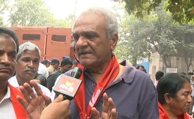 TSRTC Strike : CPI Leader Narayana Slams CM KCR - Sakshi
