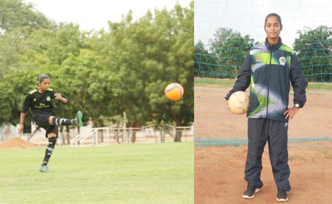 YSR Sports School Girl Selected For Indian Football Camp - Sakshi