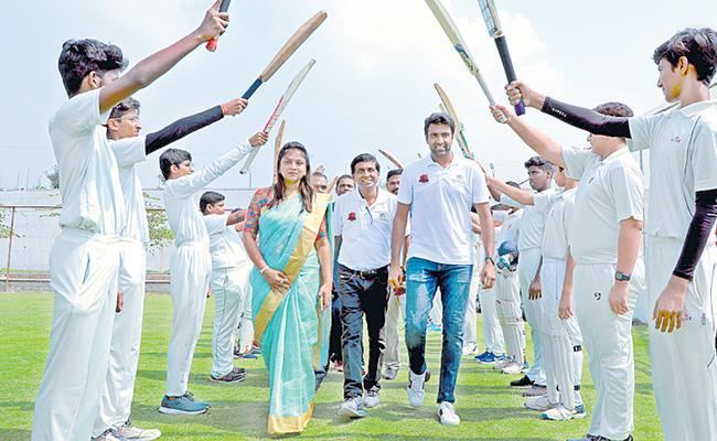 Ashwin's Cricket Academy Partners With Gaudium Sportopia - Sakshi