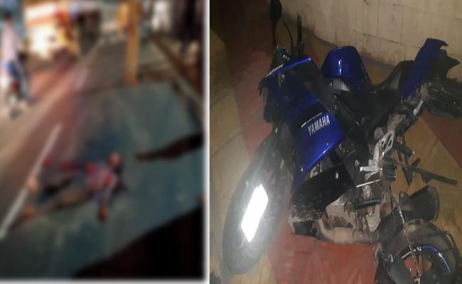 One Killed In Road Accident In Autonagar - Sakshi