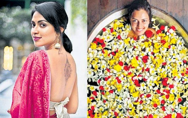 Amala Paul gets into the bathtub for healing bath in Bali - Sakshi
