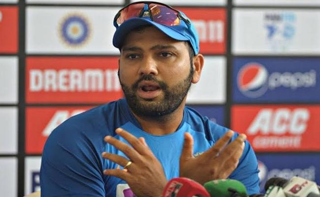 IND VS BAN: Rohit Says Wanted To Hit 6 Sixes In 10th Over - Sakshi
