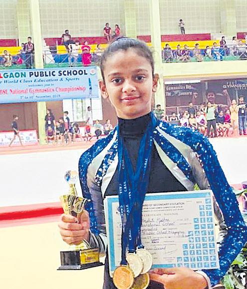 Akshiti Bags 3 gold And 2 Silver Medals Gymnastics - Sakshi