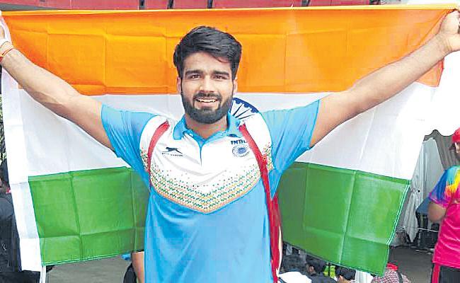 Sandeep Wins Gold At World Para Athletics Championships - Sakshi