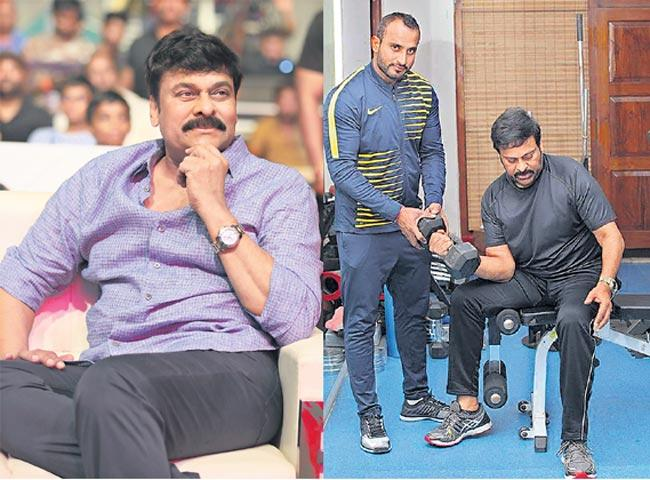 Megastar Chiranjeevi hits the Gym at 64 for Koratala Siva film - Sakshi