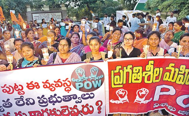 Protests in AP over Priyanka Reddy murder  - Sakshi