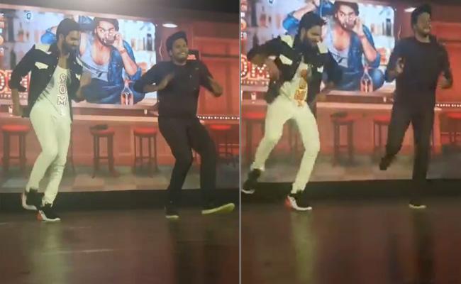 Sundeep Kishan Karthikeya Dance For 90ML Movie Song - Sakshi