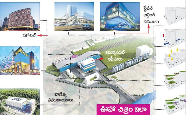Indian Railway Station Development Corporation Made plans for Nampally Railway Station - Sakshi