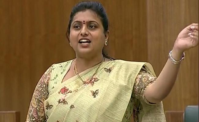 Roja And Ambati Rambabu Fires On TDP In AP Assembly - Sakshi