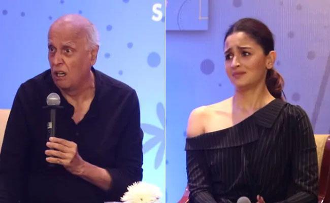 Alia Bhatt Tries To Calm Down Dad Mahesh At Shaheen Bhatt Book Launch - Sakshi