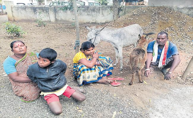 Debate About Donkey In Vikarabad Police Station - Sakshi