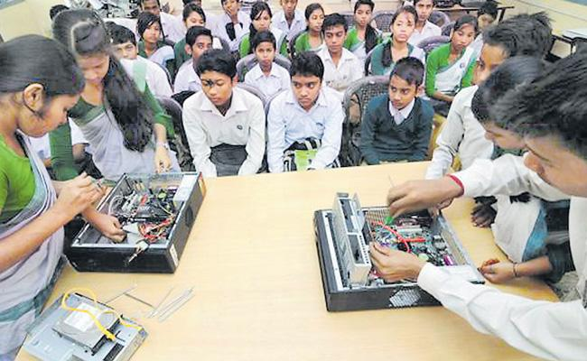 Intermediate Education Department Launches Exercise In Vocational Intermediate Courses In The State - Sakshi
