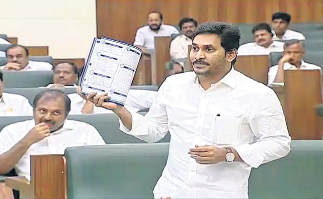 CM YS Jagan Mohan Reddy Comments On Rythu Bharosa In Assembly - Sakshi