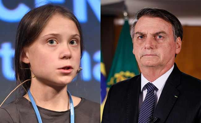 Jair Bolsonaro Calls Climate Activist Greta Thunberg As Brat - Sakshi