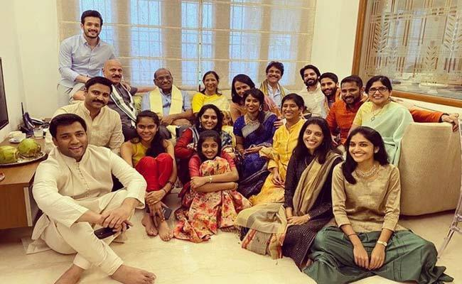 Akkineni Adithya Engagement With Aishwarya - Sakshi