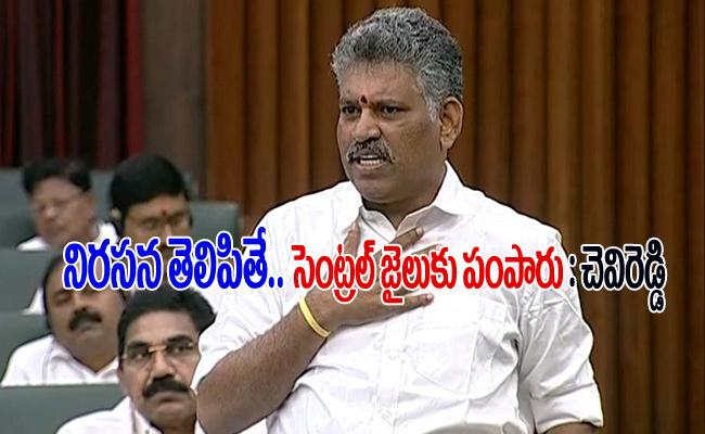 Chevi Reddy Bhasker Reddy Get Emotional In Assembly Sessions - Sakshi