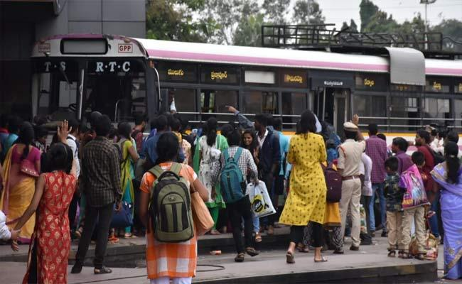12 Crore Revenue Got To TSRTC After Increasing Bus Fare - Sakshi