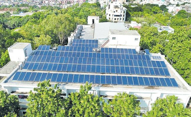 Largest solar power plant in MCRHRD - Sakshi