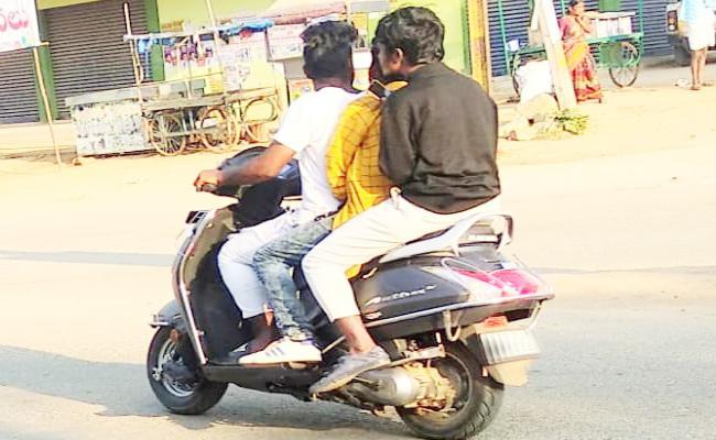 Minors Driving Vehicles in Nagarkurnool - Sakshi