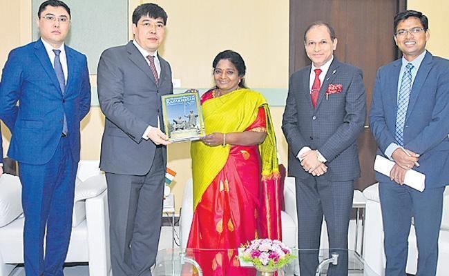 Governor Tamilisai Meets Kazakhstan Consulate - Sakshi