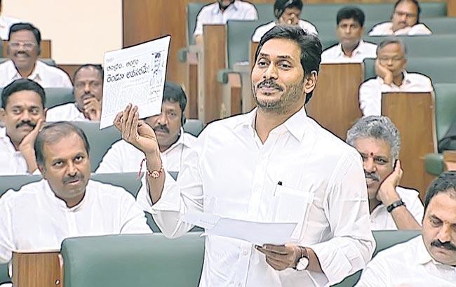 AP CM YS Jaganmohan Reddy Coments an English Medium in Assembly - Sakshi
