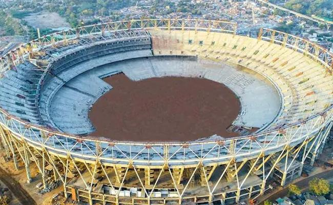 World's Biggest Cricket Stadium Takes Shape In Ahmedabad - Sakshi