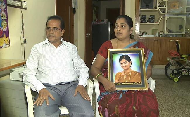 Ragging Victim Rishiteshwari Parents Applauded Disha Act - Sakshi
