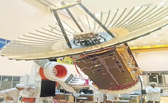 Scientists Unfurl RISAT 2BR1 Satellite Antenna - Sakshi