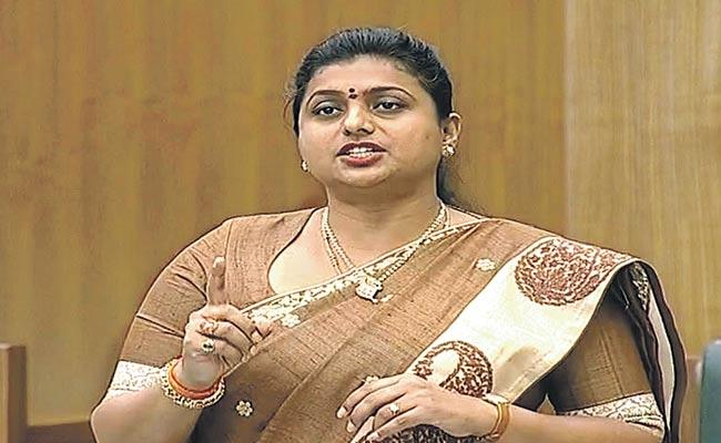 APIIC Chairman Roja Fires Chandrababu In AP Assembly - Sakshi