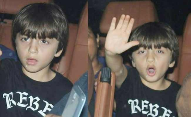 AbRam Khan Gesture With Paparazzi In Front Of His Car - Sakshi